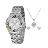 Relógio Lince Kit Presente LRM4604L + Conjunto Folheado Sortido