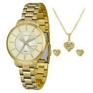 Relógio Lince Kit Presente LRG4607L + Conjunto Folheado Sortido