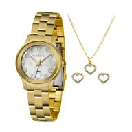 Relógio Lince Kit Presente LRGH098L + Conjunto Folheado Sortido