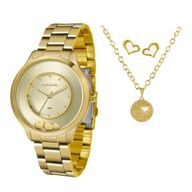 Relógio Lince Kit Presente LRG4605L + Conjunto Folheado Sortido