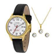 Relógio Lince Kit Presente LRCH104L + Conjunto Folheado Sortido