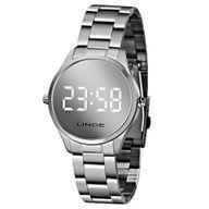 Relógio Digital Lince Prata Espelhado