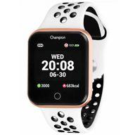 Relógio Champion Smartwatch Rosê Branco/Preto