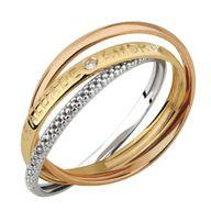 Anel Coleção Para Sempre Gold Finger Três Aros e Três Ouros