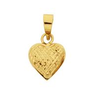 Pingente Gold Finger Coração Diamantado