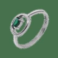 Anel Coleção Cromia Pedra Verde