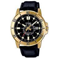 Relógio Casio Analógico Preto e Dourado