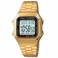 Relógio Casio Vintage Digital Dourado Quadrado