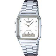Relógio Casio Vintage Prateado Analógico Fundo Branco