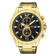 Relógio Citizen Dourado Fundo Preto