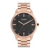 Relógio Euro Analógico Glitter Fever Rosê