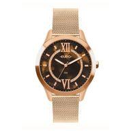 Relógio Euro Analógico Glam Glitz Rosê