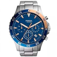 Relógio Fossil Analógico Prateado Crewmaster