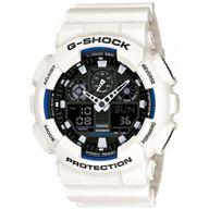 Relógio G-Shock Analógico e Digital Branco com Fundo Preto