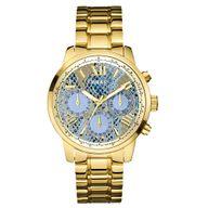 Relógio Guess Analógico Dourado com Detalhes Azuis