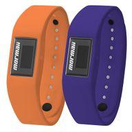 Relógio Mormaii Digital Fit Troca Pulseira Laranja/Azul