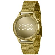Relógio Digital Lince Dourado