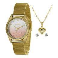Relógio Lince Kit LRGJ135L Coleção Aniversário Gold Finger
