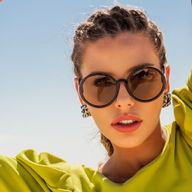Óculos Camélia Solar Redondo Preto